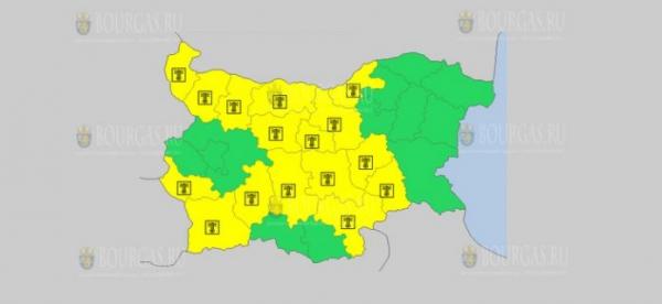 На 10-е августа в Болгарии — горячий Желтый код опасности