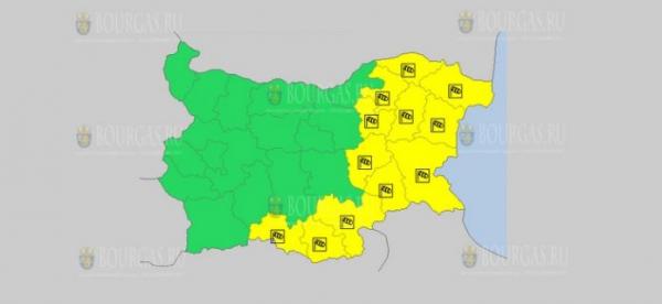 На 6-е января в Болгарии — ветреный Желтый код опасности