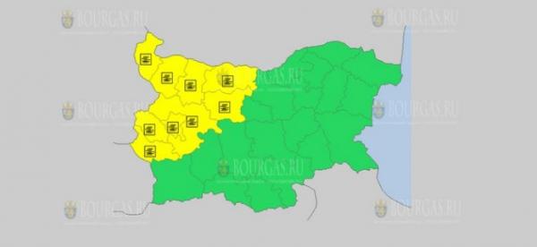 На 18 января в Болгарии — туманный Желтый код опасности