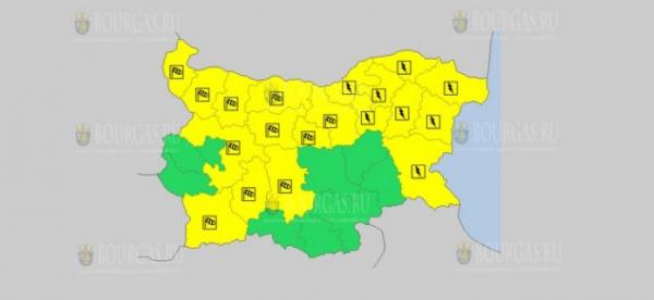 На 3-е августа в Болгарии — ветреный и грозовой Желтый код опасности