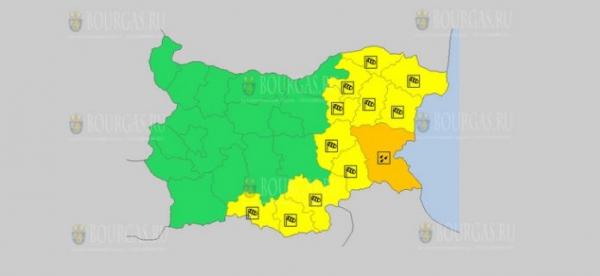 В Бургасе на завтра объявлен Оранжевый код