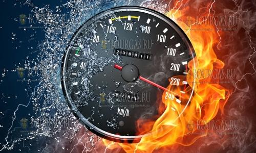 Количество случаев нарушений скоростного режима на болгарских дорогах растет