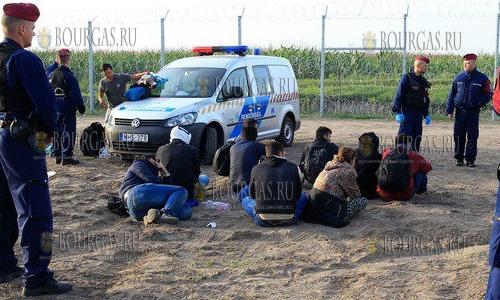 Пограничная полиция в Болгарии задержали очередной отряд нелегалов