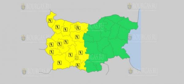 На 15-е мая в Болгарии — дождливый и грозовой Желтые коды опасности