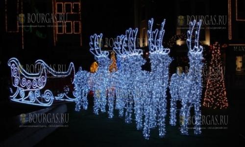 В этом году в Варне загорятся рождественскими огнями около 50 км гирлянд
