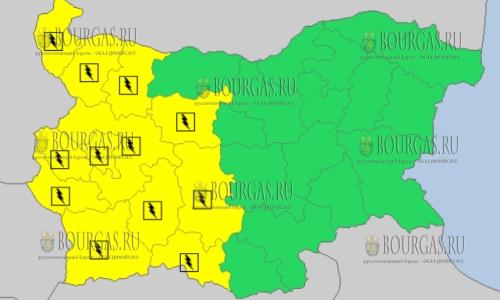 7 июля в Болгарии — грозовой и дождливый Желтый код опасности