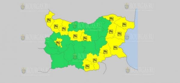 На 4 февраля в Болгарии — ветреный Желтый код опасности