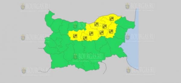 На 29-е декабря в Болгарии — ветреный и снежный Желтый код опасности