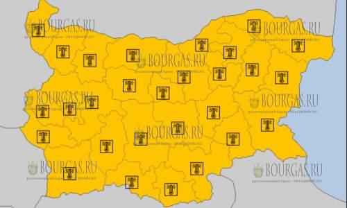 12 августа на всей территории Болгарии — горячий Оранжевый код опасности