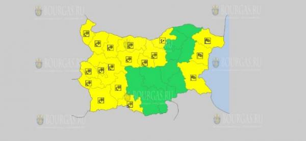 На 23 марта в Болгарии — ветреный и гололедный Желтый код опасности
