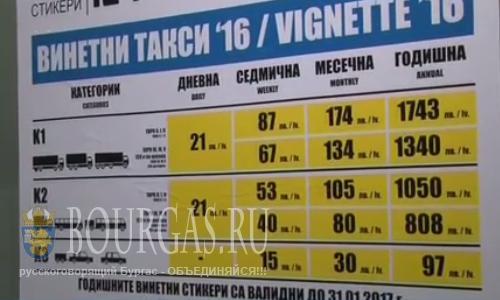 Виньетки в Болгарии подешевеют, но вопрос — когда?
