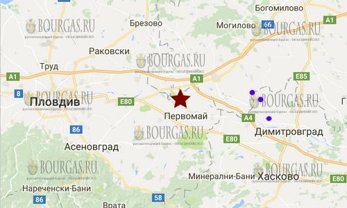 27 ноября 2017 года в Болгарии произошло землетрясение 2,2 балла по шкале Рихтера