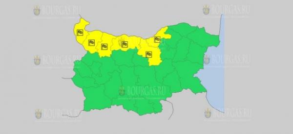 На 3-е августа в Болгарии — ветреный Желтый код опасности