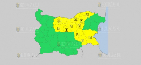 На 4 мая в Болгарии — дождевой и грозовой Желтый код опасности