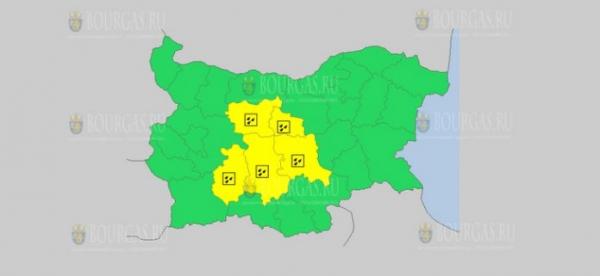 На 21 мая в Болгарии — дождливый Желтый код опасности