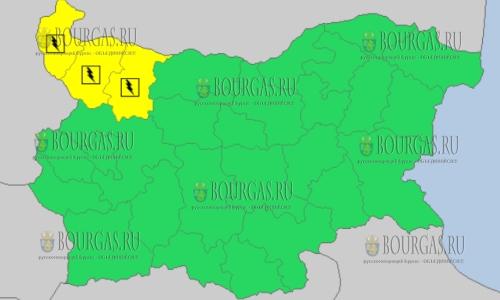 15 мая в Болгарии — грозовой и дождливый Желтый код опасности