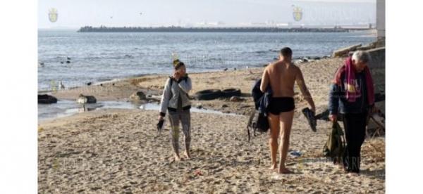 На Рождественские праздники пляж в Варне будет востребован