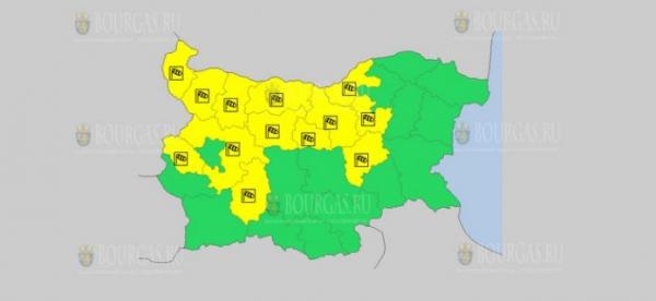 На 6 мая в Болгарии — ветреный Желтый код опасности