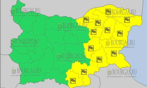 16 декабря в Болгарии — ветреный Желтый код опасности