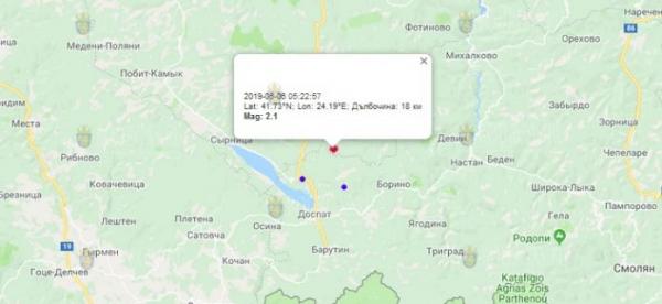 6 июня 2018 года в Болгарии произошло землетрясение 2.1 балла по шкале Рихтера