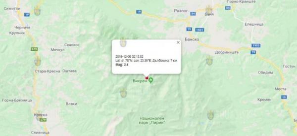Землетрясение на Юге-Западе Болгарии