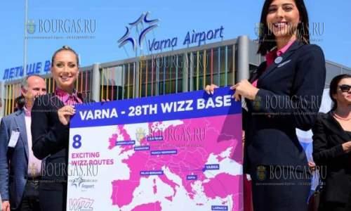 Wizz Air в Болгарии открывает вторую базу