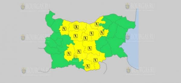 На 10-е июня в Болгарии — дождливый и грозовой Желтый код опасности