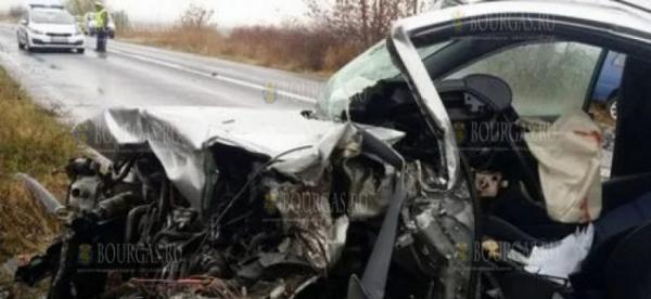 Произошла авария на трассе Айтос — Карнобат, водитель погиб