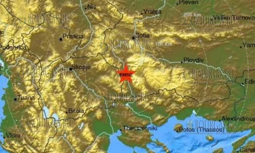 Второе землетрясение в Болгарии за день
