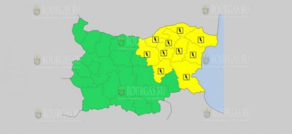 На 25 июня в Болгарии — дождливый и грозовой Желтый код опасности
