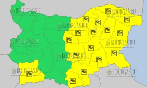 1 апреля в Болгарии — ветреный Желтый код опасности