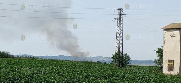 Пожар в районе Атанасовского озера в Бургасе