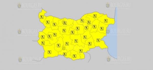 На 18 июня в Болгарии — дождливый и грозовой Желтый код опасности