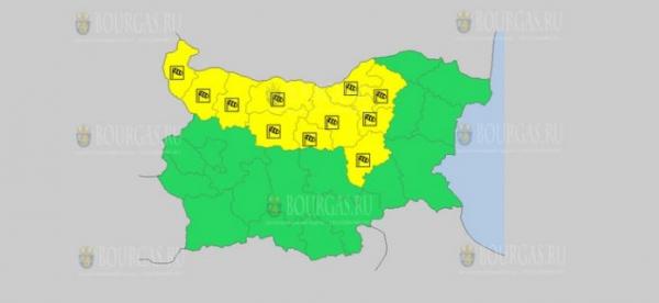 На 30 июня в Болгарии — ветреный Желтый код опасности