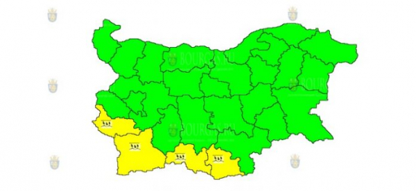 На 13-е ноября в Болгарии — дождевой Желтый код опасности