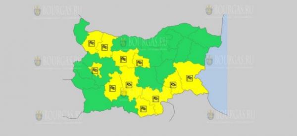 На 5 июня в Болгарии — ветреный Желтый код опасности