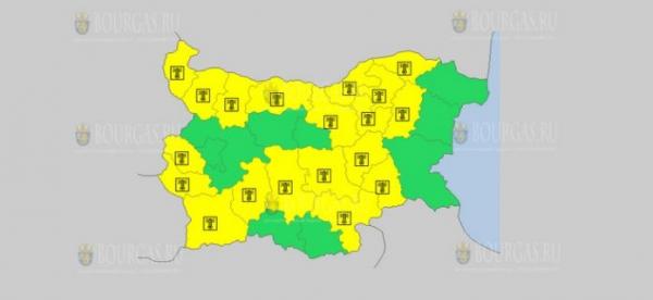 На 2-е июля в Болгарии — жаркий Желтый код опасности