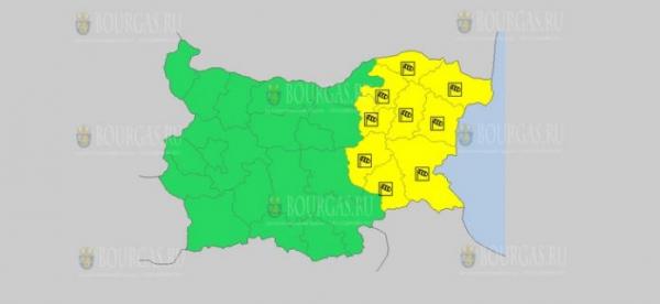 На 13 июля в Болгарии — ветреный Желтый код опасности