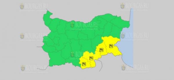 На 22-е декабря в Болгарии — ветреный Желтый код опасности