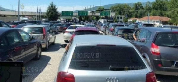 Километровые пробки на границе Болгарии с Грецией