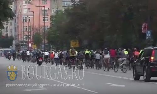 Велосипедисты в Софии вышли на протест