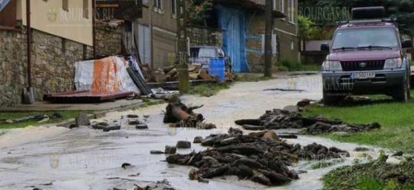 В Велико Тырновской области прошел сильный ливень