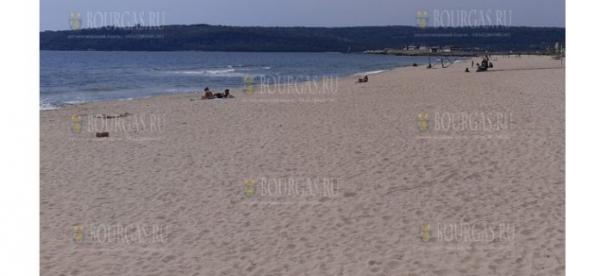 Сегодня пляжи в Вране практически пусты