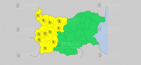 На 19 июля в Болгарии — дождевой и грозовой Желтый коды опасности