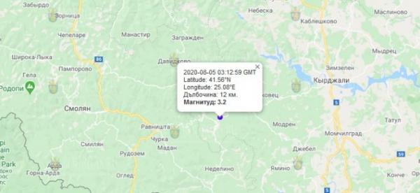 5-го августа 2020 года на Юге Болгарии произошло землетрясение