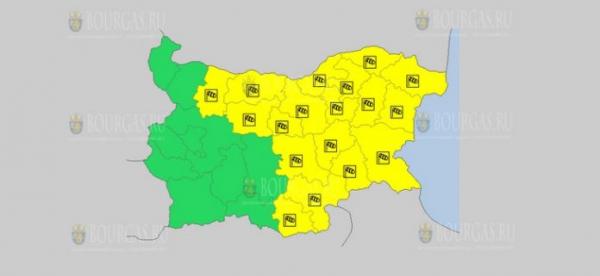 На 7 августа в Болгарии — ветреный Желтый коды опасности