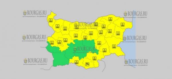 29 ноября в Болгарии — морозный ветреный Желтый код опасности