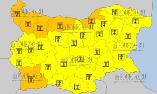 4 августа в Болгарии — горячий Оранжевый и Желтый коды опасности