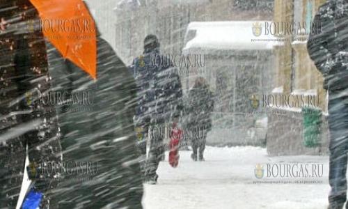 19 января в Болгарии — снежный и ветреный Желтый коды опасности