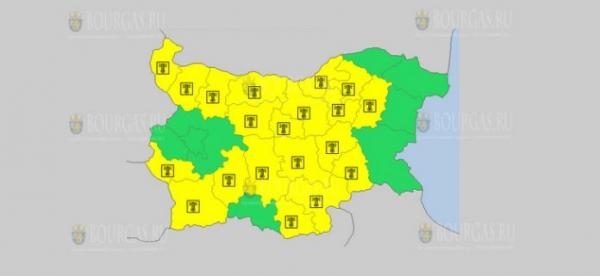 На 29 августа в Болгарии — Горячий Желтый код опасности
